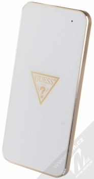 Guess Wireless Charging Base podložka bezdrátového nabíjení bílá zlatá (white gold) seshora