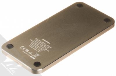 Guess Wireless Charging Base podložka bezdrátového nabíjení bílá zlatá (white gold) zezadu