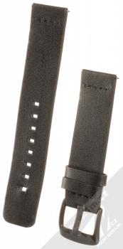 Handodo Leather Single Color Strap kožený pásek na zápěstí pro Huawei Watch GT, Watch GT 2 černá (black)