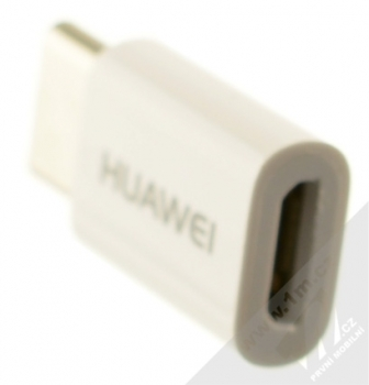 Huawei AP52 originální miniaturní redukce z USB Type-C na microUSB bílá (white) konektor