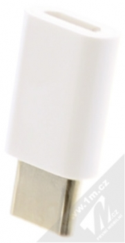Huawei AP52 originální miniaturní redukce z USB Type-C na microUSB bílá (white) zezadu