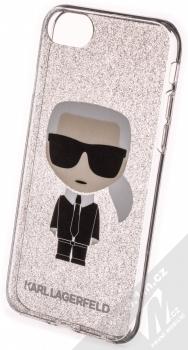 Karl Lagerfeld Ikonik Shining třpytivý ochranný kryt s motivem pro Apple iPhone 7, iPhone 8, iPhone SE (2020) (KLHCI8TPUTRIKSL) stříbrná (silver)