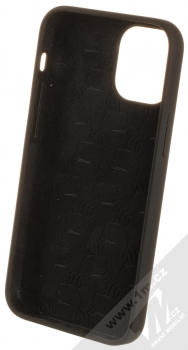 Karl Lagerfeld Silicone Head ochranný kryt pro Apple iPhone 12 mini (KLHCP12SSLKHBK) černá (black) zepředu