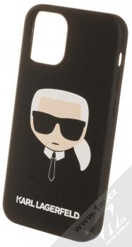 Karl Lagerfeld Silicone Head ochranný kryt pro Apple iPhone 12 mini (KLHCP12SSLKHBK) černá (black)