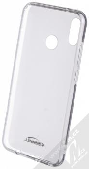Kisswill TPU Open Face silikonové pouzdro pro Asus ZenFone 5Z (ZS620KL) bílá průhledná (white) zepředu