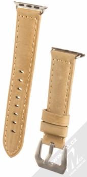 Maikes Cow Leather Strap kožený pásek na zápěstí pro Apple Watch 38mm béžová (beige)