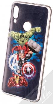 Marvel Avengers 001 TPU ochranný silikonový kryt s motivem pro Huawei P Smart (2019) tmavě modrá (dark blue)