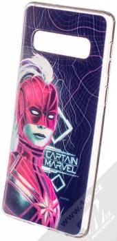 Marvel Kapitánka Marvel 013 TPU ochranný silikonový kryt s motivem pro Samsung Galaxy S10 tmavě modrá (dark blue)