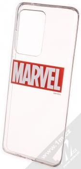 Marvel Logo 006 TPU pokovený ochranný kryt pro Samsung Galaxy S20 Ultra průhledná (transparent)