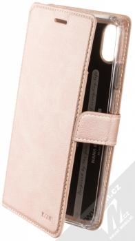 Molan Cano Issue Diary flipové pouzdro pro Apple iPhone XS Max růžově zlatá (rose gold)