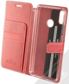 Molan Cano Issue Diary flipové pouzdro pro Honor 8X červená (red) otevřené