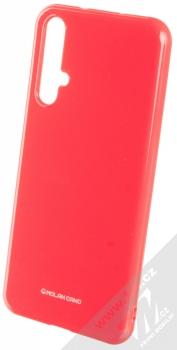 Molan Cano Jelly Case TPU ochranný kryt pro Honor 20, Huawei nova 5T sytě růžová (hot pink)