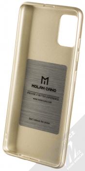 Molan Cano Jelly Case TPU ochranný kryt pro Samsung Galaxy A51 zlatá (gold) zepředu
