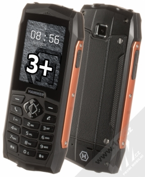 MyPhone Hammer 3 Plus + TWIST SIM KARTA INTERNET kredit 200 v ceně 199Kč ZDARMA oranžová (orange)