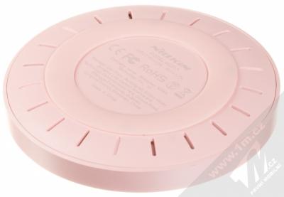 Nillkin Magic Disk 4 základna rychlého bezdrátového Qi nabíjení pro mobilní telefon, mobil, smartphone růžová (pink) zezadu