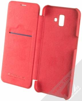 Nillkin Qin flipové pouzdro pro Samsung Galaxy J6 Plus (2018) červená (red) otevřené