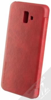 Nillkin Qin flipové pouzdro pro Samsung Galaxy J6 Plus (2018) červená (red) zezadu