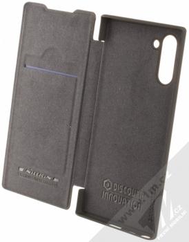 Nillkin Qin flipové pouzdro pro Samsung Galaxy Note 10 černá (black) otevřené