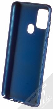 Nillkin Super Frosted Shield ochranný kryt pro Samsung Galaxy A21s modrá (peacock blue) zepředu