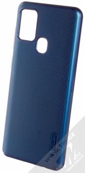 Nillkin Super Frosted Shield ochranný kryt pro Samsung Galaxy A21s modrá (peacock blue)
