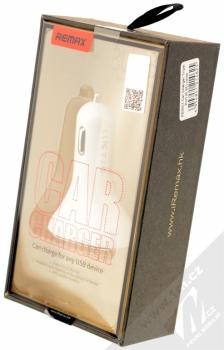Remax 3U nabíječka do auta s 3x USB výstupem a 6,3A proudem bílá stříbrná (white silver) krabička