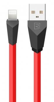 Remax Alien plochý USB kabel s Apple Lightning konektorem pro Apple iPhone, iPad, iPod červeno černý (red black)