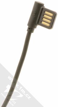 Remax Rayen USB kabel do pravého úhlu s microUSB konektorem černá (black) USB konektor
