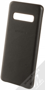 Samsung EF-VG973LB Leather Cover kožený originální ochranný kryt pro Samsung Galaxy S10 černá (black)