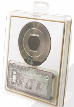 Samsung EP-WG95FBB Starter Kit originální sada stojánku pro bezdrátové nabíjení, ochranného krytu a fólie pro Samsung Galaxy S8 Plus černá černá (black black) krabička