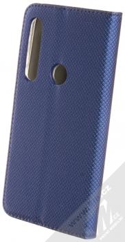 Sligo Smart Magnet flipové pouzdro pro Moto G8 Play tmavě modrá (dark blue) zezadu