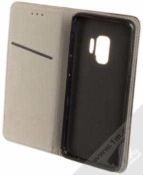 Sligo Smart Magnet flipové pouzdro pro Samsung Galaxy S9 černá (black) otevřené