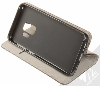 Sligo Smart Magnet flipové pouzdro pro Samsung Galaxy S9 černá (black) stojánek