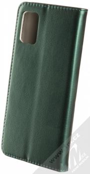 Sligo Smart Magnetic flipové pouzdro pro Samsung Galaxy A71 tmavě zelená (dark green) zezadu