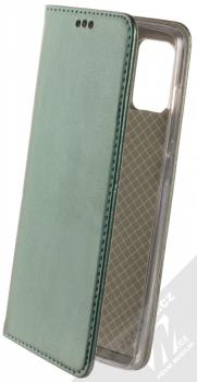 Sligo Smart Magnetic flipové pouzdro pro Samsung Galaxy A71 tmavě zelená (dark green)