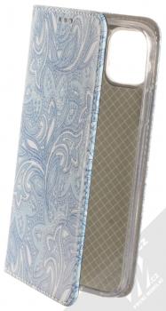Sligo Smart Trendy Ledové květy 2 flipové pouzdro pro Apple iPhone 11 modrá bílá (blue white)