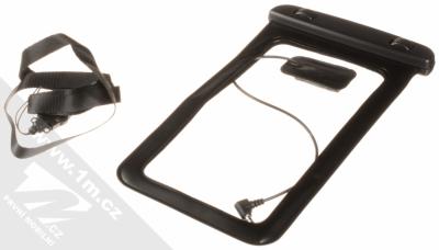 Sligo Waterproof Case vodotěsné pouzdro s audio výstupem 3,5mm pro mobilní telefon, mobil, smartphone od 5,0 do 5,8 palců černá (black) balení