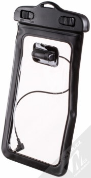 Sligo Waterproof Case vodotěsné pouzdro s audio výstupem 3,5mm pro mobilní telefon, mobil, smartphone od 5,0 do 5,8 palců černá (black) zezadu