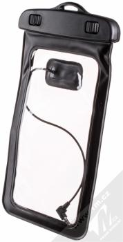 Sligo Waterproof Case vodotěsné pouzdro s audio výstupem 3,5mm pro mobilní telefon, mobil, smartphone od 5,0 do 5,8 palců černá (black)