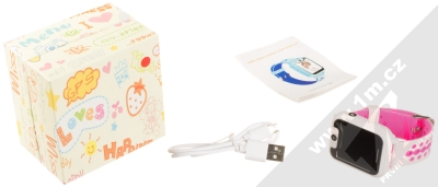 Tortoyo V2 Kids Smart Watch dětské chytré hodinky s GPS lokalizací růžová (pink) balení