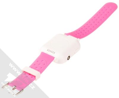 Tortoyo V2 Kids Smart Watch dětské chytré hodinky s GPS lokalizací růžová (pink) rozepnuté zezadu