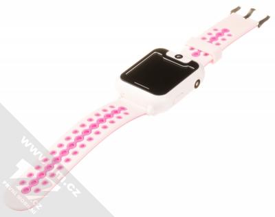 Tortoyo V2 Kids Smart Watch dětské chytré hodinky s GPS lokalizací růžová (pink) rozepnuté