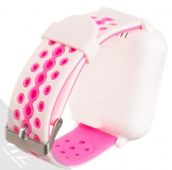 Tortoyo V2 Kids Smart Watch dětské chytré hodinky s GPS lokalizací růžová (pink) zezadu