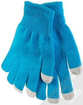URan Touch Gloves Basic pletené rukavice pro kapacitní dotykový displej modrá (blue)