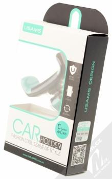 USAMS C Series Car Holder univerzální držák do mřížky ventilace v automobilu pro mobilní telefon, mobil, smartphone černo zelená (black mint) krabička