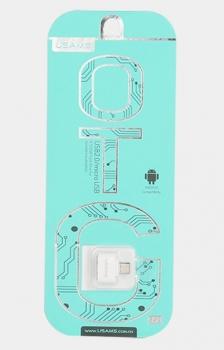 USAMS OTG miniaturní a elegantní OTG redukce z microUSB na USB pro mobilní telefon, mobil, smartphone, tablet bílá (white)
