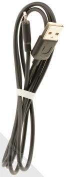 USAMS U-Turn USB kabel s Apple Lightning konektorem černá (black) komplet kabel