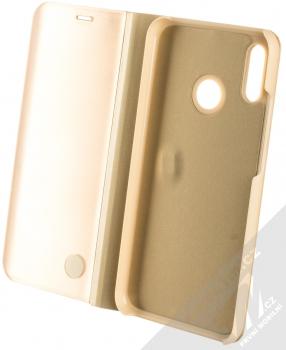 Vennus Clear View flipové pouzdro pro Huawei P20 Lite zlatá (gold) otevřené
