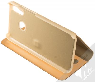 Vennus Clear View flipové pouzdro pro Huawei P20 Lite zlatá (gold) stojánek