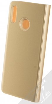Vennus Clear View flipové pouzdro pro Huawei P20 Lite zlatá (gold) zezadu