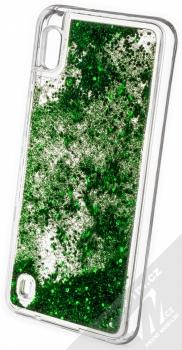 Vennus Liquid Glitter ochranný kryt s přesýpacím efektem třpytek pro Samsung Galaxy A10 zelená (green) zezadu